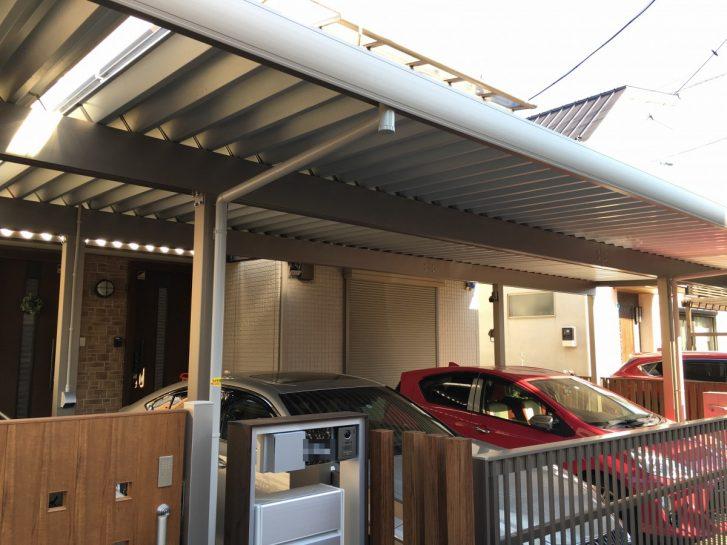 市川市 太陽光発電システム付きカーポート+蓄電池